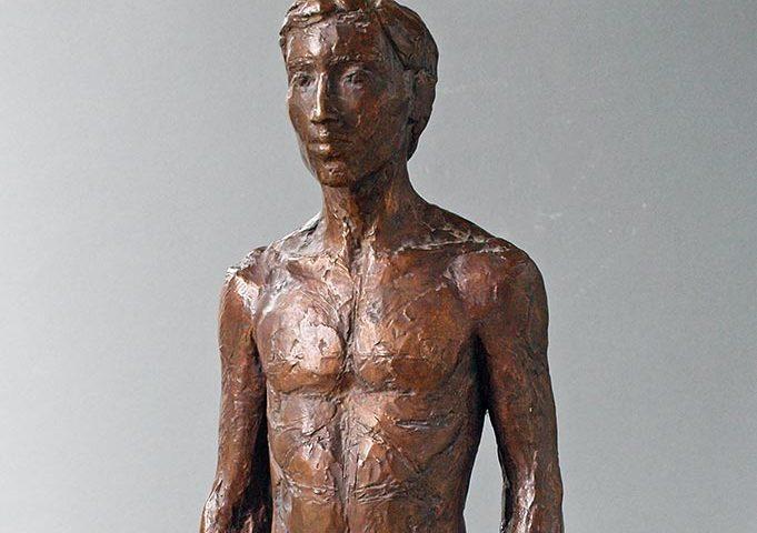 stehende männliche Figur aus Bronze von Klaus Kütemeier