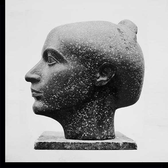 weiblicher Kopf aus Stein von Klaus Kütemeier