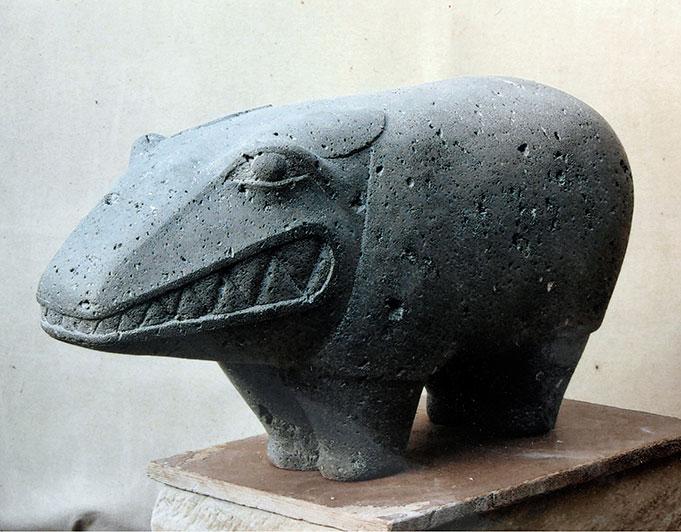 tierähnliche Steinskulptur von Klaus Kütemeier