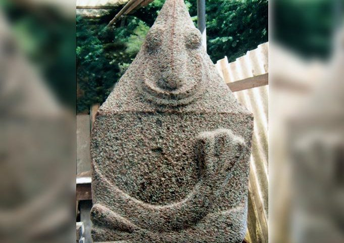 Tierähnliche Figur aus Stein von Klaus Kütemeier